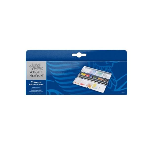 Blue Box aquarelle Cotman 12 demi-godets