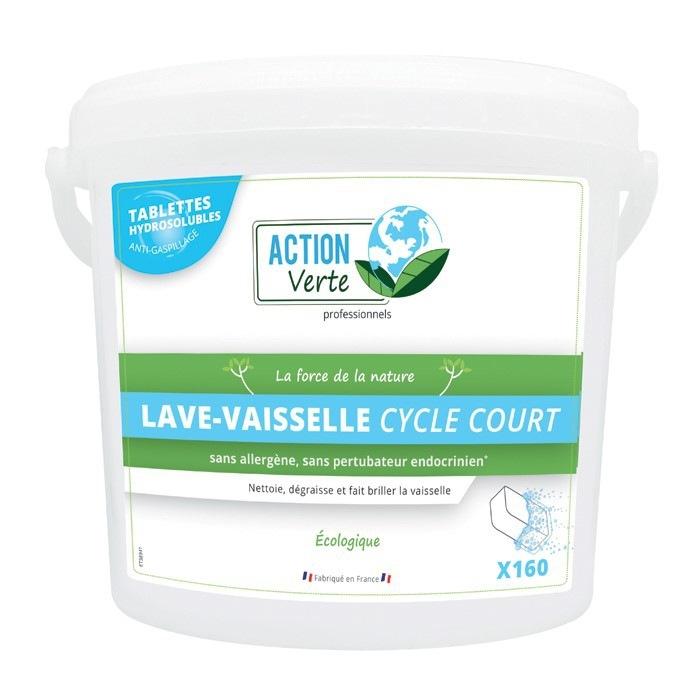 Tablettes lave vaisselle professionnel cycle court Action Verte
