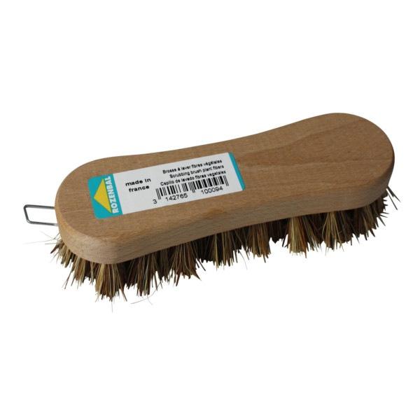 Brosse à laver fibres végétales semelle bois