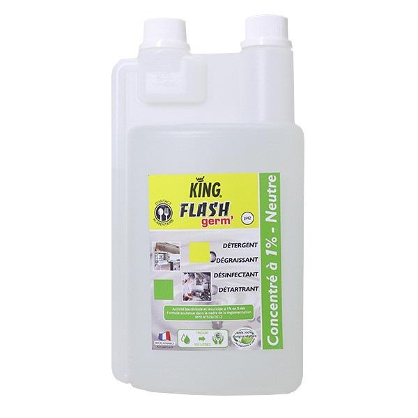 Flash'Germ désinfectant virucide Acide lactique concentré 1L