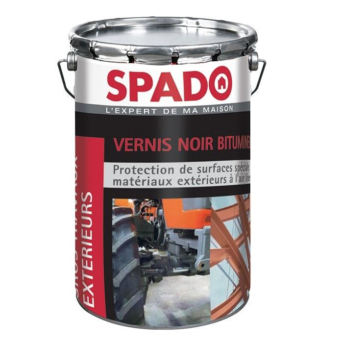 Vernis noir bitumineux Spado 4 kg