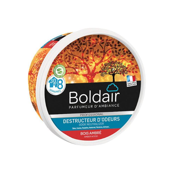 Gel destructeur d'odeurs Boldair bois ambré