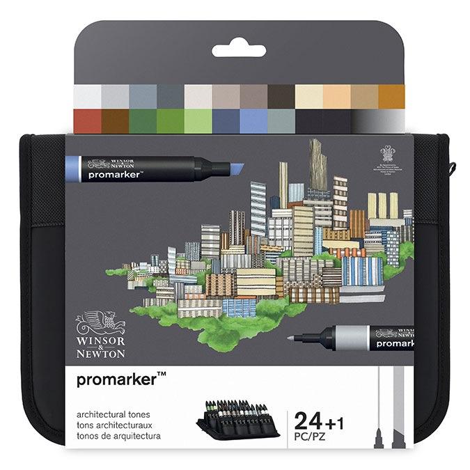 Trousse assortiment de 24 ProMarkers Architecture