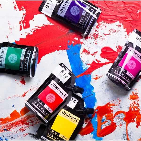 Peinture acrylique Abstract Sennelier 120 ml