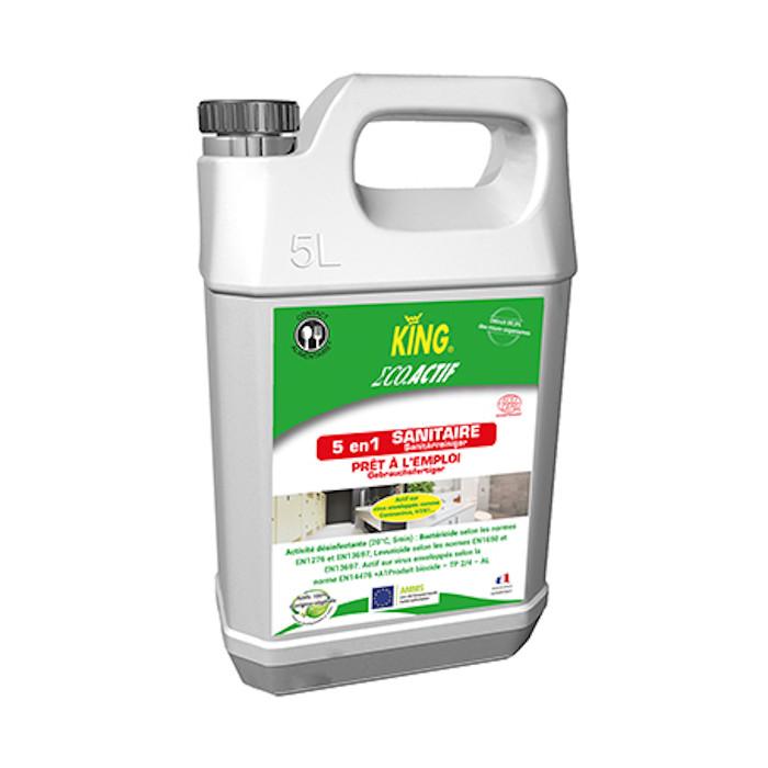 Nettoyant désinfectant sanitaire écologique King 5L