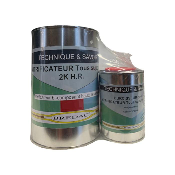 Vitrificateur béton bi-composant haute résistance 1,2 L Bredac