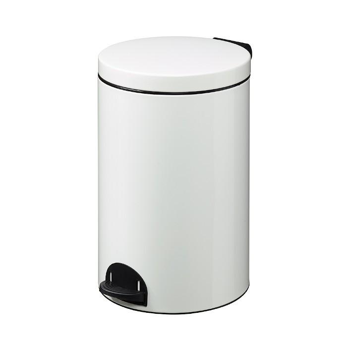 Poubelle à pédale 20L Blanc Signalisation Ref 90361