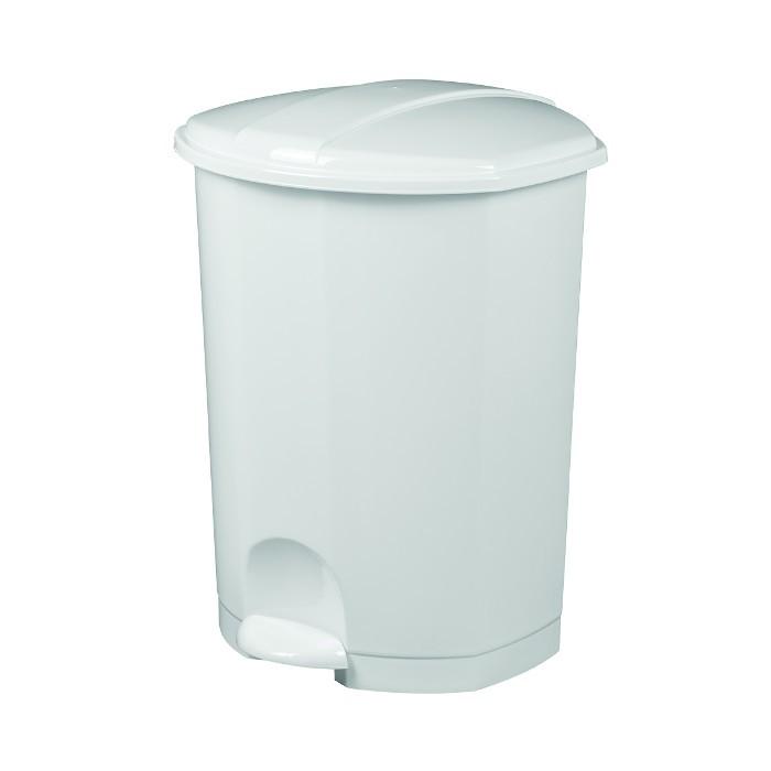 Poubelle à pédale 50L Blanc Ref 91155