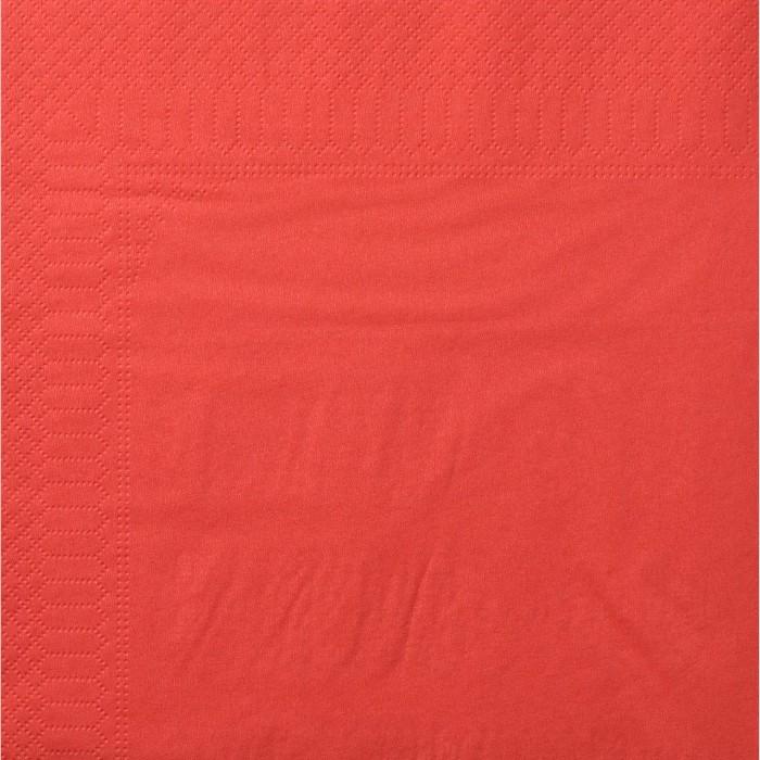 Serviettes Ouate 40 x 40 cm 2 plis couleur rouge par 100