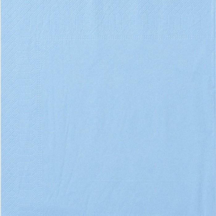 Serviettes Ouate 40 x 40 cm 2 plis couleur bleu azur par 100
