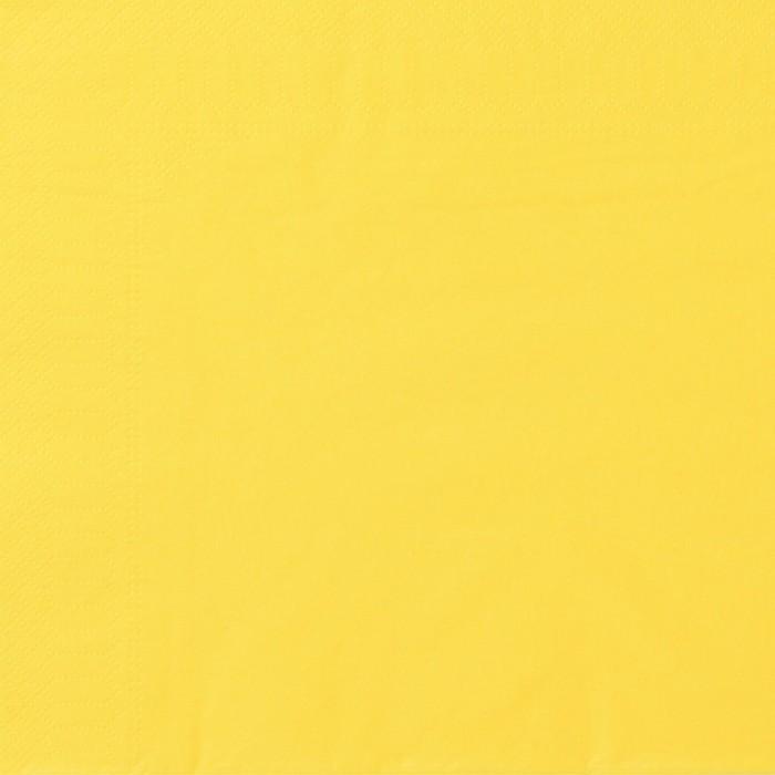 Serviettes Ouate 40 x 40 cm 2 plis couleur citron par 100