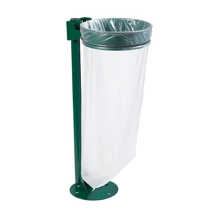 Support sac sur poteau sur platine 110L Vert Mousse Ref 57319
