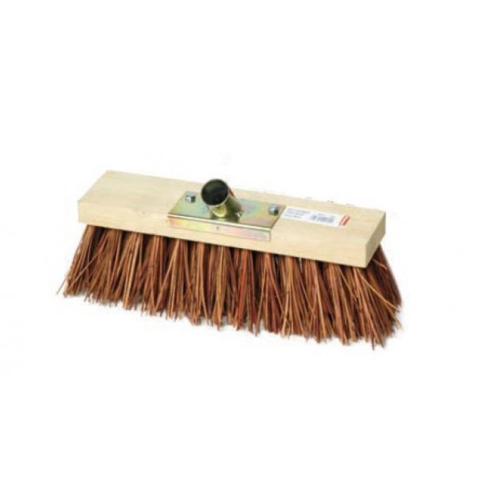 Balais cantonnier fibres naturelles douille acier 31 cm