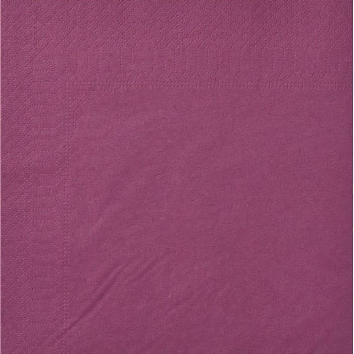 Serviettes Ouate 40 x 40 cm 2 plis couleur aubergine par 100