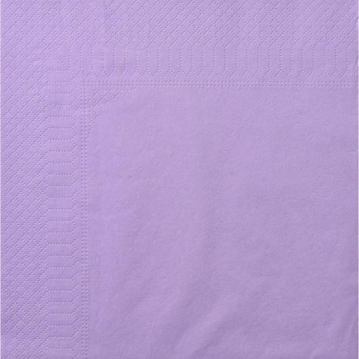 Serviettes Ouate 40 x 40 cm 2 plis couleur lavande par 100