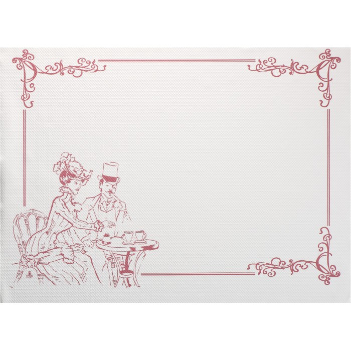 Sets de table 30 x 40 cm décor la belle époque bordeaux par 500