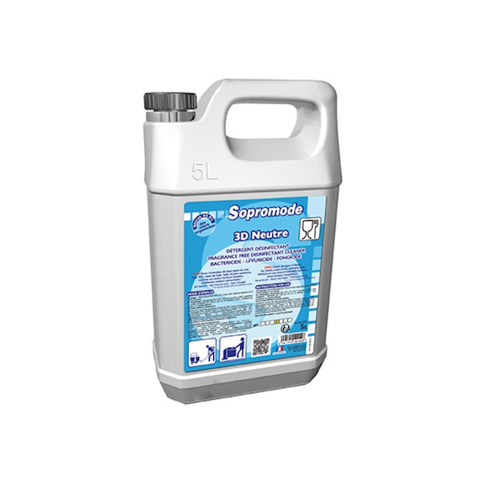 Nettoyant désinfectant sans parfum 5 L Sopromode