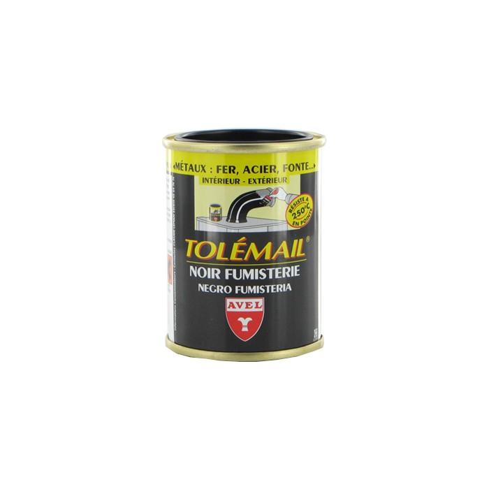 Peinture noir fumisterie Tolemail 250 ml