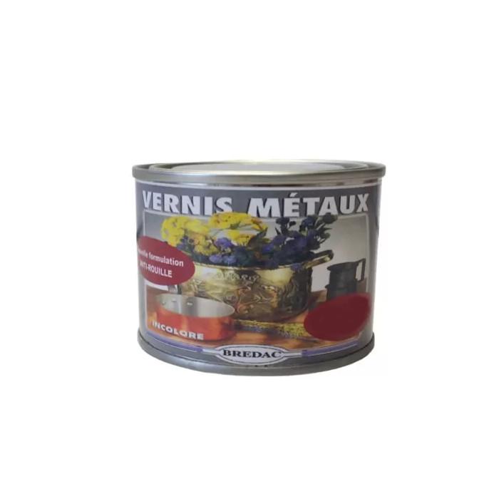 Vernis métaux incolore satiné 125 ml Brédac