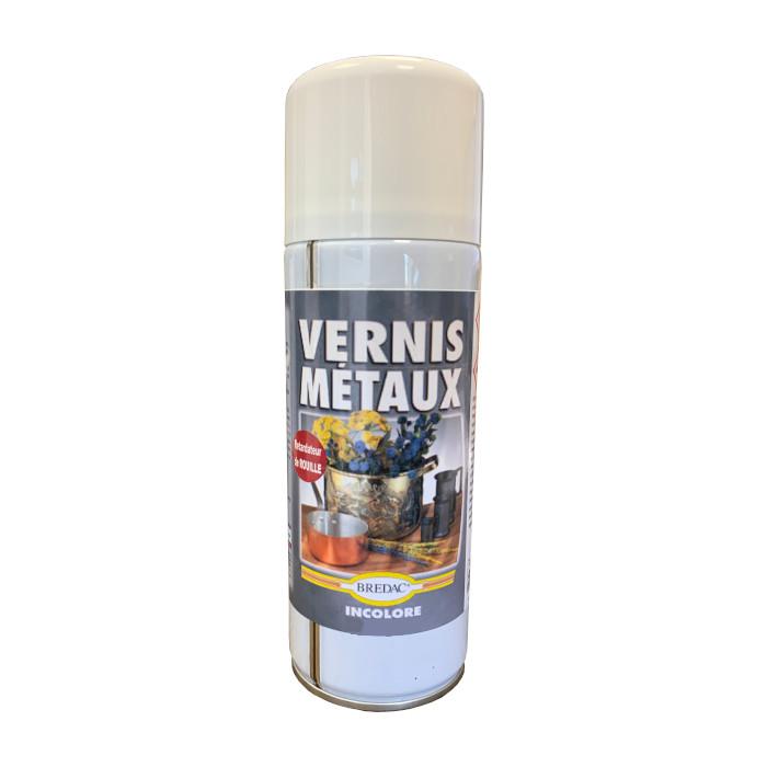 Aérosol vernis métaux incolore brillant 400 ml Brédac